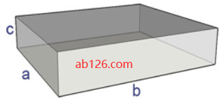 surface area of a rectangular prism or box